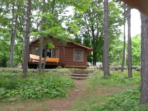 Cabin #2 view from lake
