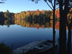 Fall colors from Cabin #1 dock